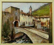 Tableau vers 1970 L'Escarène Alpes-Maritimes par André Torre
