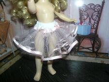 "Pink Nylon Net Slip Petticoat Crinoline 14"" Doll clothes fits Ideal Toni P-90"