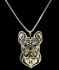 French Bulldog Dog Pendant Necklace - Fashion Jewellery - Gold Plated