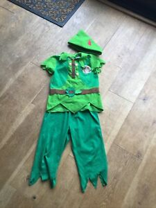 Boys Disney Peter Pan Fancy Dress Outfit Age 5-6 Years