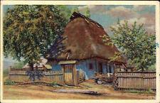 Vesnička Füllerdörfel bei Prysk Tschechien Color AK ~1940 Idylla Künstlerkarte