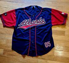 Men's Atlanta Braves Baseball Jersey Shirt~ Size XL ~ ZAM Sportswear~MLB