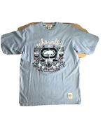 ECKO UNLTD. AUTHENTIC MEN'S CREW NECK SHORT SLEEVE Baby blue  T-SHIRT SIZE XL