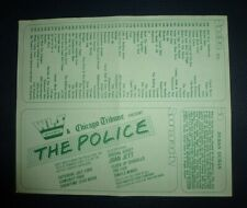 The Police Joan Jett Simple Minds The Fixx 1983 Wls Chicago Concert Handbill