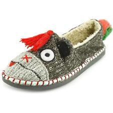 Pantofole da donna grigia tessile