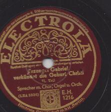 Erzengel Gabriel verkündet Christi Geburt 1931 : Sprecher mit Chor