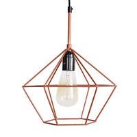 Diamond Cage PENDANT LIGHT Copper Tone Wire Lamp Retro Chandelier E27