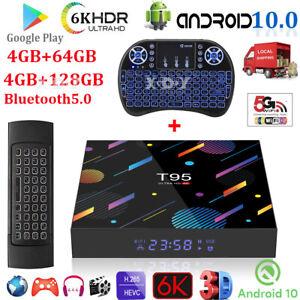 T95 Android 10.0 128G 64G 32G 6K Smart TV BOX 5G WIFI Netzwerk Media Player DHL