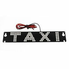 Car Windscreen Cab Sign White 90 LED Taxi Light w Suction Cup W3A0
