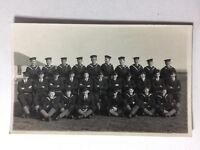 Vintage Real Photograph PC #AE - Military Group Naval Cadets? Officers