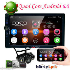 "Android 6.0 2Din 7""GPS Nav Quad Core Car Stereo DVD Player Bluetooth Wifi Camera"