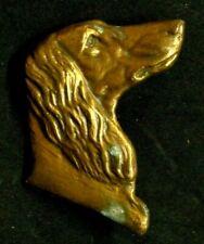 Vintage Afghan Hound Dog Brass Metal Art Emblem Ornament Badge Decorative marked