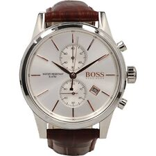 BRAND NEW HUGO BOSS JET BROWN LEATHER CHRONOGRAPH MEN WATCH HB1513280