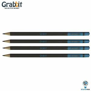 Grabbit 2B Exam Pro Newspaper Pencil | 4 Pencils | Home Office School Stationery