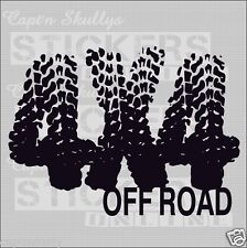 4X4 OFF ROAD DECAL 200x145mm Capt'n Skullys Stickers Online MPN 1331