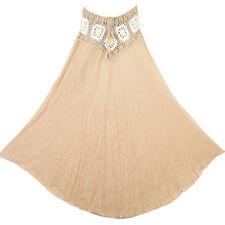 Bohemian Crochet Cotton Skirt Boho Hippy Hippie Gypsy Brown XS-XL sk168b3