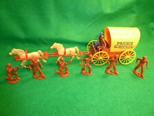 Vintage MPC Western PRAIRIE SCHOONER Wagon with 2 Horses & Cowboys
