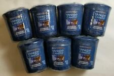 Yankee Candle Votives: MOONBEAMS ON PUMPKINS Lot of 7 Blue Melts Wax New