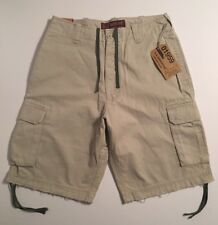 Men's U.S EXPEDITION Khaki Cargo Shorts Vintage Wash Sz 32 New