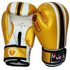VELO 6oz Kids Boxing Gloves Junior Mitts MMA Punch Bag Children Youth Boys Kick