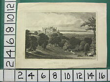 c1828 ANTIQUE PRINT ~ WILTON CASTLE ~ YORKSHIRE