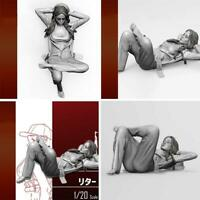 1/20 Resin Figure Model kit Soldier sexy Girl Unassambled Unpainted Creative