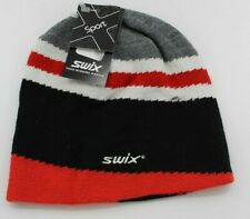 NWT SWIX MILO BEANIE - OS - GRAY/WHITE/BLACK/RED - FREE SHIPPING!!!