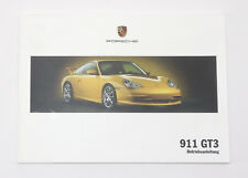 Porsche 996 GT3 Instrucciones Servicio, Manual de Instrucciones, Mj. 2005