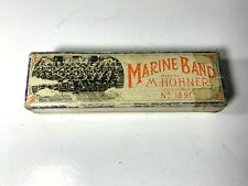 M. Hohner Marine Band Harmonica Key of Bb - Pre Owned Vintage Germany