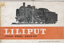 LILIPUT HO GAUGE MODEL RAILWAYS 1959 PRODUCT RANGE CATALOGUE ( ENGLISH TEXT )