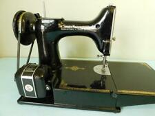 Singer N0 221K1 Rotary Hook Portable Electric Sewing Machine complete in case