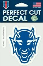 "Duke Blue Devil ""Devil Face"" Logo 4x4 Perfect Cut Car Decal See Description"