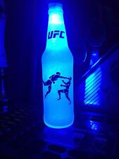 MMA UFC Ultimate Fighting 12 oz Beer Bottle Light LED Bar Man Cave