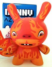 "DUNNY 3"" AZTECA SERIES HULA+HULA 666 DEVIL CHASE FIRE FLAMES KIDROBOT TOY FIGURE"