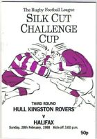 Hull Kingston Rovers v Halifax 1987/8 Challenge Cup