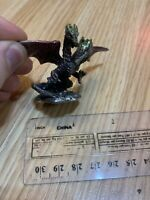 Pewter Dragon Figurine Colorful Wings