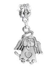Angel Dog Loss of Pet Rememberance Gift Dangle Bead for European Charm Bracelets