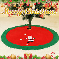 Long 90cm Christmas Tree Skirt Mat Festive Xmas Floor Home Party Decor  * t