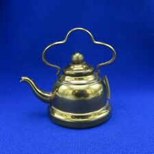 Antique Sewing Tape Measure Coffee or Tea Pot, Brass, NR
