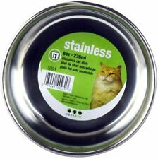 NEW Van Ness Stainless Steel Cat Dish/small dog 8 Ounce FOOD&WATER Skid Proof
