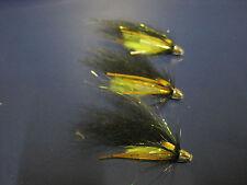 3 V Fly 1/2 Inch Conehead Black & Green Octopus Salmon Tube Flies & Hooks