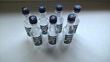 7 EMPTY Captain Morgan Parrot Bay Coconut 50 ml Miniature Plastic Liquor Bottles