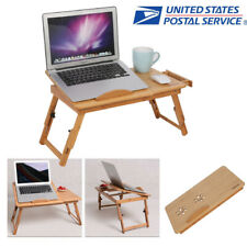 New listing Portable Foldable Laptop Rack Desk Bamboo Bed Reading Tray Table Stand w/ Drawer