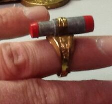original  vintage 1940's Terry and the Pirates Gold Detector premium ring VF