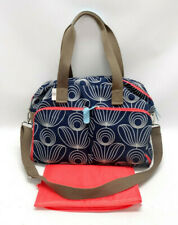 ORLA KIELY for TARGET BLUE SPIRAL DIAPER BAG W/CHANGING PAD ~ EUC