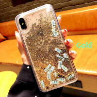 Cute Banknote Apps Icon Liquid Glitter Quicksand Case Cover for iPhone Xs Max Xr
