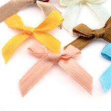 500 Pcs//lot Mini SMALL Ribbon Bows Assorted Colours Satin RU