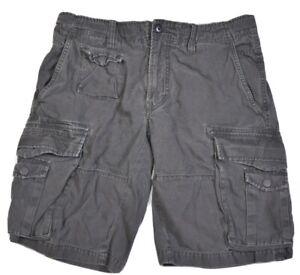 Diesel Mens Cargo Shorts Gray Size 34 short pants utility drawstring denim
