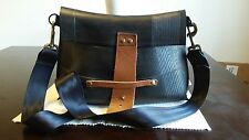 Rugged Men's Handmade Rubber and Seatbelt Metro Bag Very Hip!