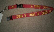 NCAA USC Trojans Red Breakaway Lanyard Keychain NWT Free Ship